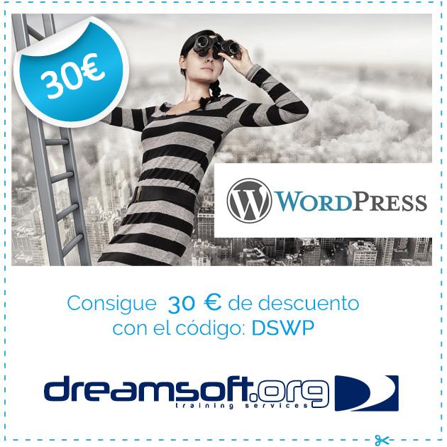 Descuento curso wordpress